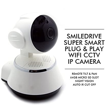 Smiledrive Super Smart WiFi IP Plug & Play HD Camera
