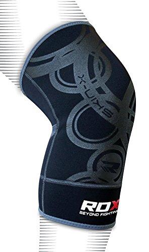 RDX MMA Tutore Ginocchio Support Boxe Fascia Ginocchiere Pallavolo Fitness Crossfit Protezione (singolo articolo)
