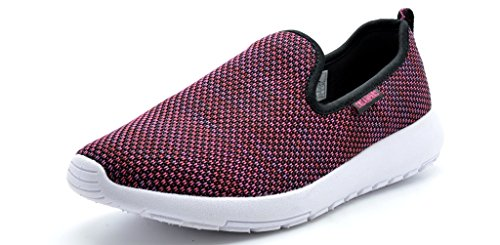 Dream Pairs 151052 Women's New Light Weight Comfort Sole Easy Walking Casual Athletic Slip On Water Swim/Sport shoes BLACK-H.PINK-SZ-6 (Light Pink Roshe Run compare prices)
