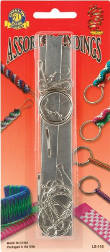 Pepperell 20-Piece Rexlace Assorted Findings for Jewelry Making, Nickel