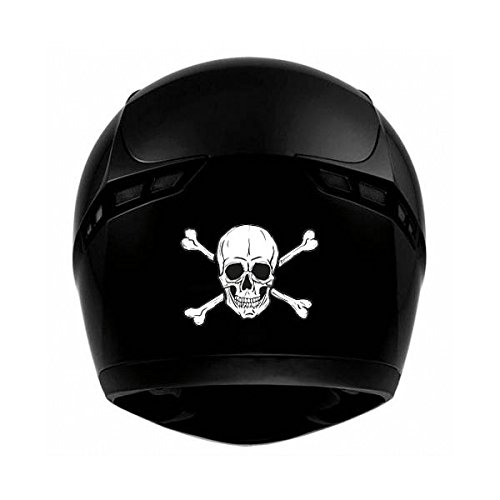 t te de mort skull moto casque autocollant sticker adhesif. Black Bedroom Furniture Sets. Home Design Ideas