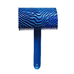 Magideal Wood Graining Pattern Rubber Painting Tool with Handle Wall Decor Blue05