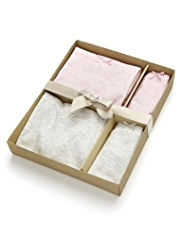 2 Pack Autograph Pure Cotton Vest & Briefs Set in Gift Box