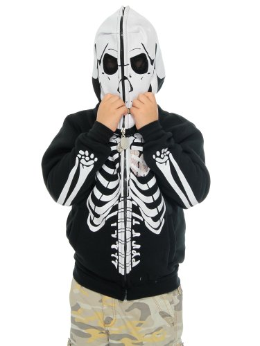New Children'S Trim Long Sleeve Skeleton Hoodie