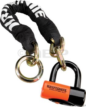 Kryptonite New York Noose 1275 Chain Bicycle Lock with Evolution Series 4 Disc Lock Chain Bicycle Lock (2-Foot x 4-Inch)