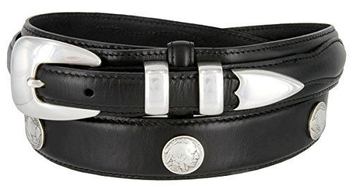 Buffalo Nickel & Indian Nickel Concho Oil Tanned Leather Ranger Belt