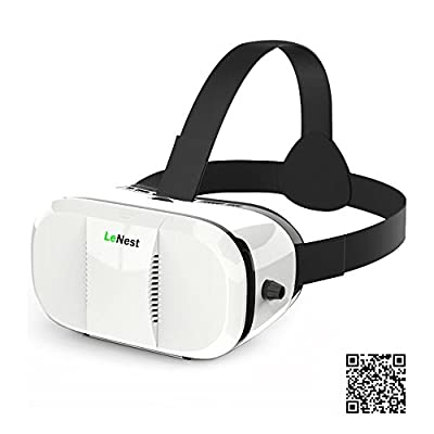 LeNest 3D VR Headset(Virtual Reality Headset) Glasses for 4~6 inch Mobile to watch Hollywood's movies and game,with adjustable focal/pupil distance, Compare with Samsung Gear VR
