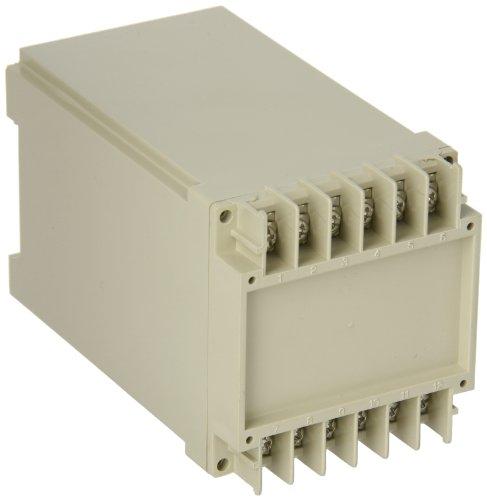 """Bud Industries Db-4701 Plastic Din Rail Mount Box, 2-9/16"""" Width X 2-3/4"""" Height X 4-13/32"""" Depth, Light Gray Finish"""