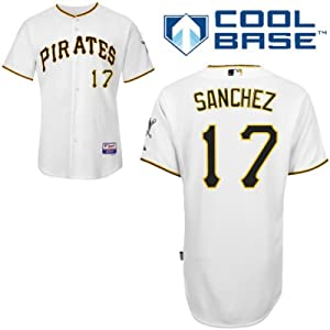 Tony Sanchez Pittsburgh Pirates Home Authentic Cool Base Jersey by Majestic by Majestic