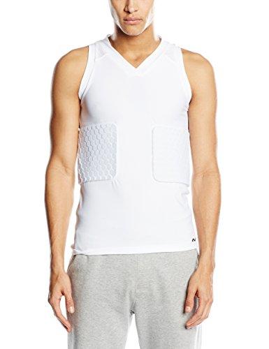 McDavid Hex Maglietta da basket Dunk II, Bianco (Weiß), L