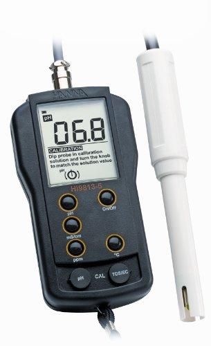 Hanna Instruments HI HI9813-5N Waterproof pH/EC/TDS Meter, with Multiparameter Probe