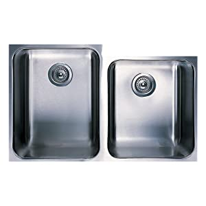 Blanco 501-310 Spex Plus 1-3/4 Bowl Undermount Kitchen Sink, Satin Finish