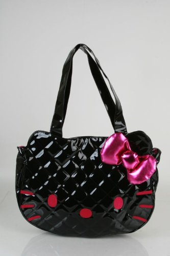 Hello Kitty Quilted Face Bag in Black