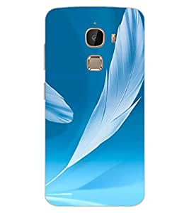 ColourCraft Lovely Feathers Design Back Case Cover for LeEco Le 2 Pro