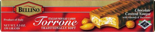Bellino Chocolate Covered Torrone (Nougat), 5.3-Ounce Bars (Pack of 3) by Bellino