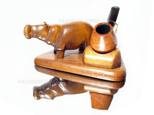 New Wooden Pipe Stand for Tobacco Smoking Pipes . Handmade Ash-Tree