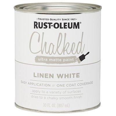 RUST-OLEUM 285140 Chalked Paint, 30 oz, White