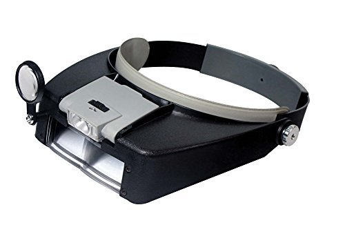 SE MH1047L Illuminated Multi-Power LED Head Magnifier (Electronic Loupe compare prices)