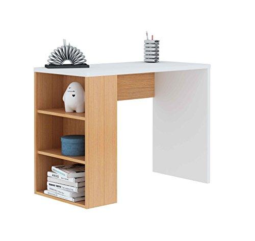 meka-block-k-861-scrivania-con-scaffale-colore-bianco-legno-di-rovere-chiaro