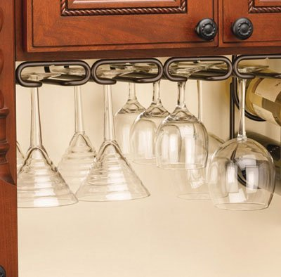 Rev-A-Shelf RS3450.11ORB Quad Stemware Rack-Oil Rubbed Bronze