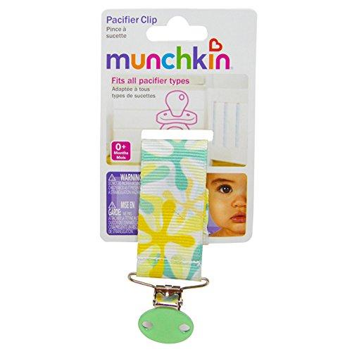 Munchkin Pacifier Clip, Green Yellow