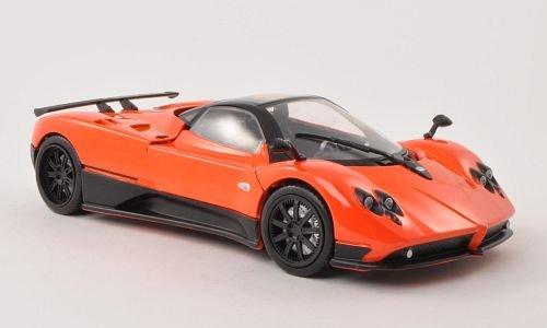 pagani-zonda-f-orange-model-car-ready-made-motormax-118