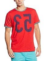 Springfield Camiseta Manga Corta (Rojo)