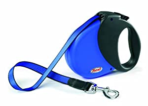 Flexi Durabelt Soft Grip Retractable Belt Dog Leash, Large/Extra Large, 16-Feet Long, Supports up to 150-Pound, Blue/Black