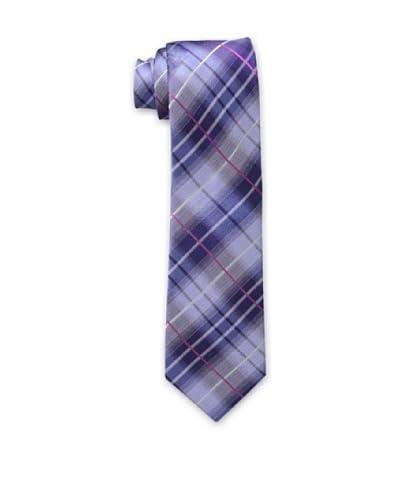 Ben Sherman Men's Shaded Plaid Tie, Berry