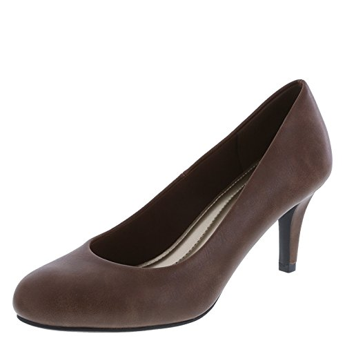Comfort Plus by Predictions Women's Light Cognac Women's Karmen Pump 7.5