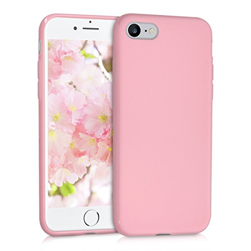 kwmobile-Chic-TPU-silicone-Case-per-Apple-iPhone-7-in-rosa-antico-opaco