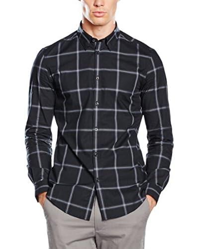 Ben Sherman Camisa Hombre Ls Ombre Check Negro