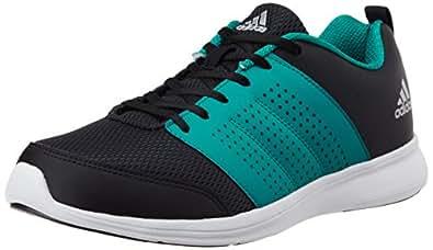 adidas Men's Adispree M Black, Green and Silver Running Shoes - 10 UK