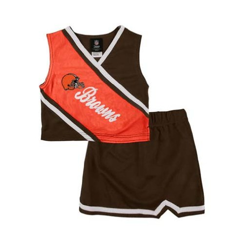 Reebok Two Piece Cleveland Browns NFL Cheerleader Uniform Set (Size 2T to 4T)