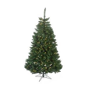 Sterling 7 ft. Pre-Lit LED Fairmont Pine Christmas Tree, Clear, PVC, 7 ft.