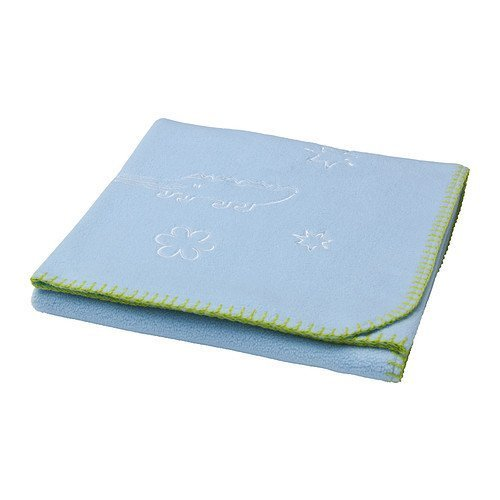 Ikeas Sagodjur Blanket, Light Blue