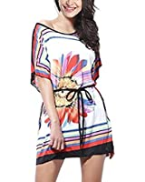 Ninimour-Femme Tunique tshirt mini robe manches Dolman-été