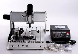 Huhushop(TM) 4-axis CNC Router 3040Z-DQ Ballscrew Engraving Drilling Machine Engraver