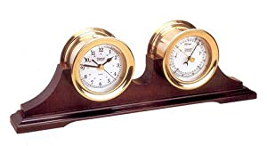 Weems & Plath Antigua Quartz Clock and Barometer Gift Set by Weems & Plath