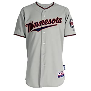 Minnesota Twins Road Authentic Cool Base Jersey by Majestic by Majestic