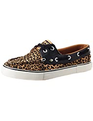 British Knights Women's Deck Brown Leopard And Black Sneakers