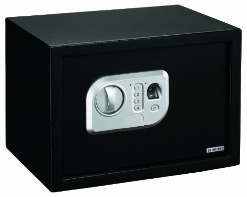Stack-On PS-10-B Biometric Personal Safe with Adjustable Shelf, Black
