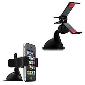 Classy Tek Car Mobile Holder Mount Bracket Holder Stand 360 Degree Rotating (Black)