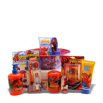 Ideal Birthday, Get Well, Gifts for Boys Spiderman Grooming Gift Basket