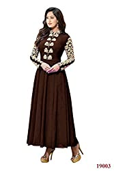 Branded Georgette Brown Color Salwar Suit