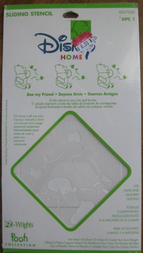 Disney Home Bee My Friend Pooh Collection Sliding Stencil for Hand or Machine Quilting