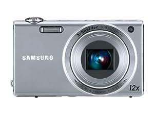 Samsung WB210 Digitalkamera (nur MicroSD/SDHC-Karte, 14 Megapixel, 12-fach opt. Zoom, 3.5 Zoll Display,  21mm Weitwinkel, bildstabilisiert) silber
