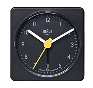 Braun Travel Alarm Clock  BNC002 Black