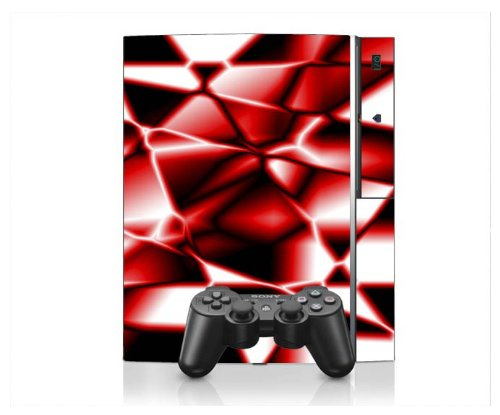 PS3 Playstation 3 Console Skin Decal Sticker -Digit Fire Stars