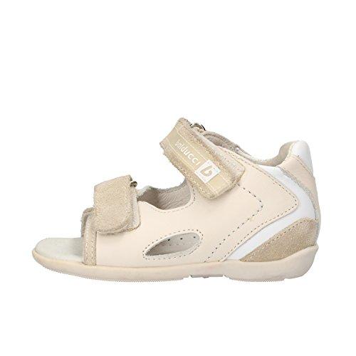 BALDUCCI sandali bambino beige pelle bianco camoscio AF353 (18 EU)